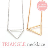Triangle pendant necklace, 3 colors - girlsluv.it  - 2