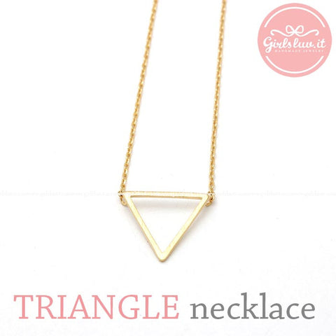 Triangle pendant necklace, 3 colors - girlsluv.it  - 1