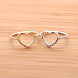 sterling silver OPEN HEART RING, 2 colors - girlsluv.it  - 1