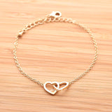 open heart bracelet, crossed - girlsluv.it  - 2