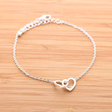 open heart bracelet, crossed - girlsluv.it  - 3