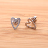 open heart earrings - girlsluv.it  - 3