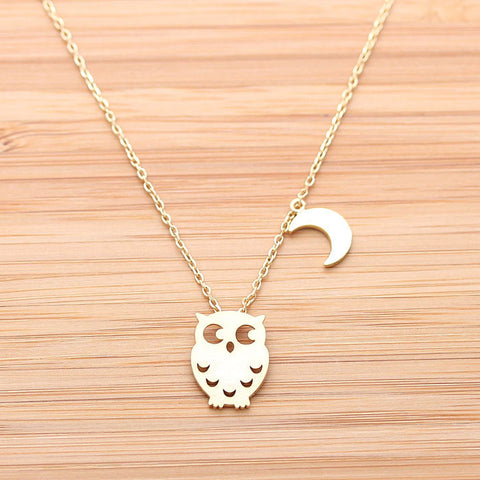 OWL & CREST necklace, 2 colors - girlsluv.it  - 1