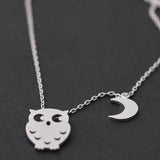 OWL & CREST necklace, 2 colors - girlsluv.it  - 3