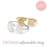 adjustable PACMAN ring, 2 colors - girlsluv.it  - 1