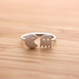 adjustable PACMAN ring, 2 colors - girlsluv.it  - 2