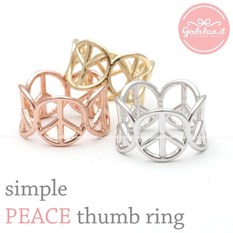 simple PEACE thumb ring - girlsluv.it