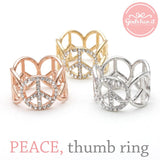 peace ring, crystals - girlsluv.it  - 3