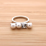 pearl ring with crystal - girlsluv.it  - 2