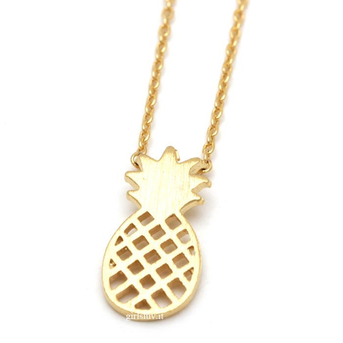 pineapple necklace - girlsluv.it  - 1