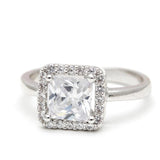 halo engagement ring, square - girlsluv.it  - 3