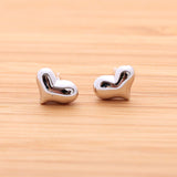heart earrings, embossed - girlsluv.it  - 4