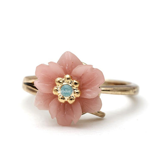 retro flower ring, adjustable - girlsluv.it