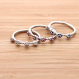 ruby ring, sapphire ring, crystal ring - girlsluv.it  - 3
