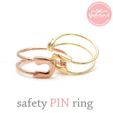 SAFETY PIN adjustable ring,3 colors - girlsluv.it  - 1