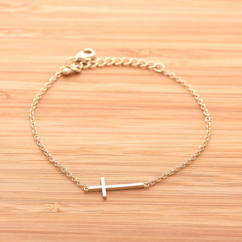 SIDEWAYS CROSS bracelet, 2 colors - girlsluv.it  - 1
