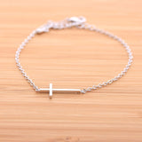 SIDEWAYS CROSS bracelet, 2 colors - girlsluv.it  - 2