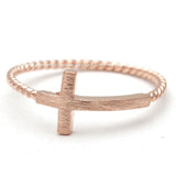 sideways cross ring, twisted - girlsluv.it  - 3