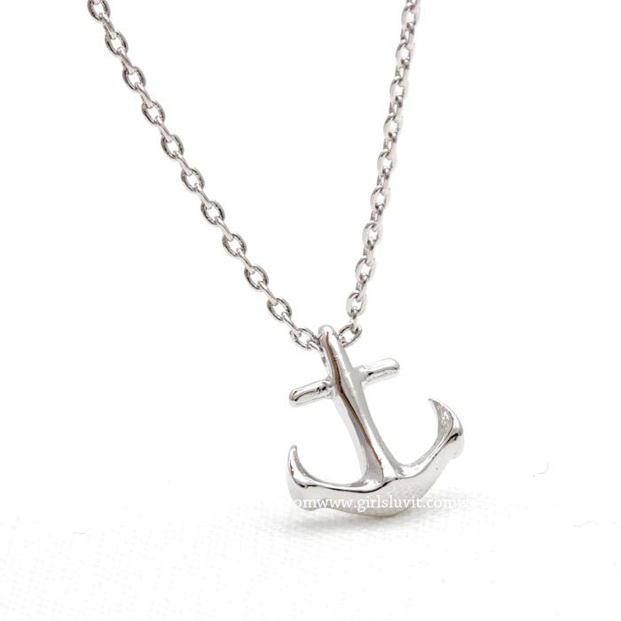 tiny anchor necklace - girlsluv.it  - 1