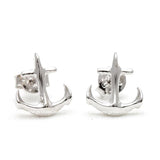 tiny anchor earrings - girlsluv.it  - 1