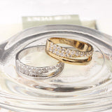 band ring, crystals, 2 lines - girlsluv.it  - 2