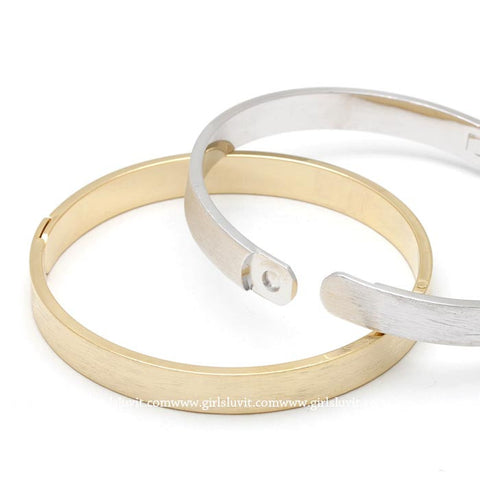 simple bangle, brushed - girlsluv.it  - 1
