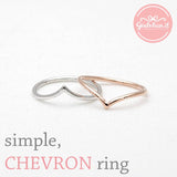 simple CHEVRON ring, 3 colors - girlsluv.it  - 2