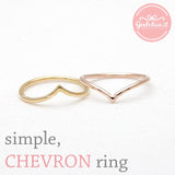 simple CHEVRON ring, 3 colors - girlsluv.it  - 3