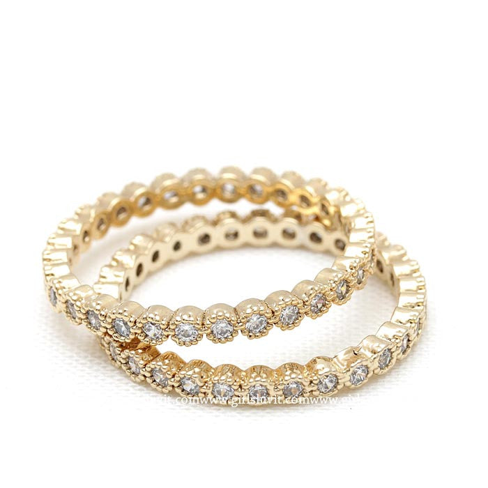 band ring, crystals - girlsluv.it  - 1