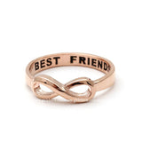 best friends infinity ring in pinkgold - girlsluv.it  - 2