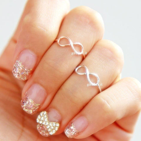 simple infinity knuckle ring - girlsluv.it
