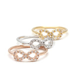 infinity knuckle ring, crystals - girlsluv.it  - 2