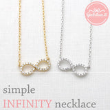 infinity necklace, crystals - girlsluv.it  - 3