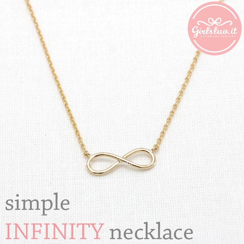 simple INFINITY necklace, 2 colors - girlsluv.it  - 1