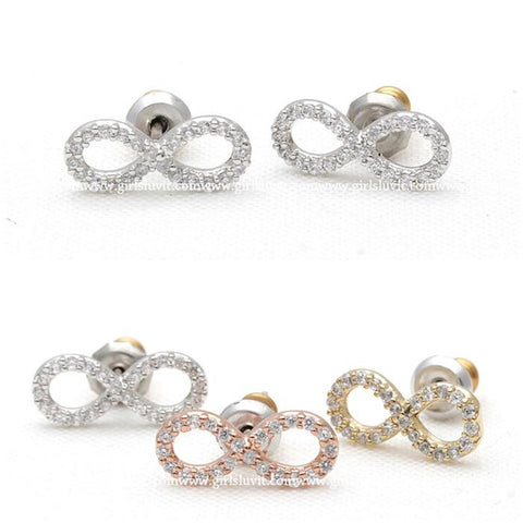 infinity earrings, crystals - girlsluv.it  - 1