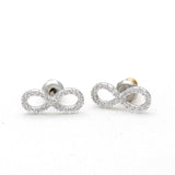 infinity earrings, crystals - girlsluv.it  - 2