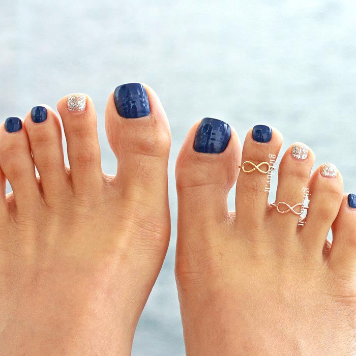 simple infinity toe ring - girlsluv.it