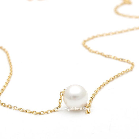 sterling silver, pearl necklace - girlsluv.it