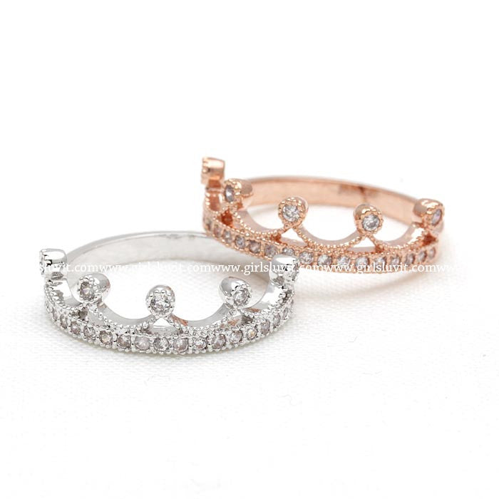 tiara ring, crystals - girlsluv.it  - 1