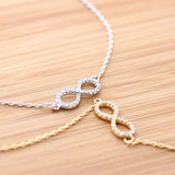 infinity bracelet, crystals - girlsluv.it  - 1