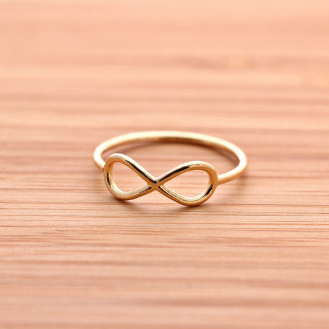 simple INFINITY ring, in gold - girlsluv.it