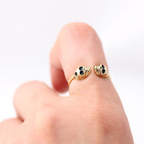 tiny twin SKULL with twisted band, 2 colors - girlsluv.it  - 5