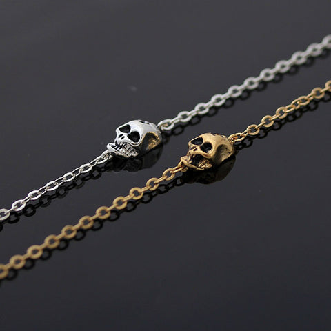 tiny SKULL with head gunshot bracelet, 2 colors - girlsluv.it  - 1