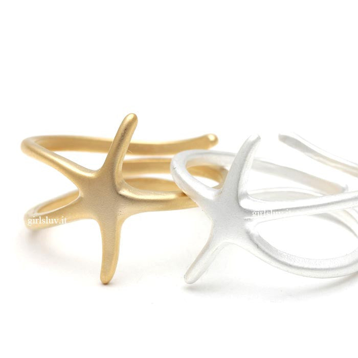 starfish ring, adjustable - girlsluv.it