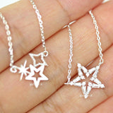open star necklace, crystals - girlsluv.it  - 2