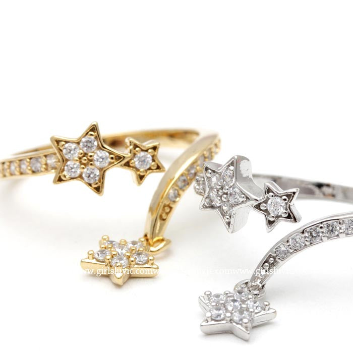 star ring, adjustable - girlsluv.it