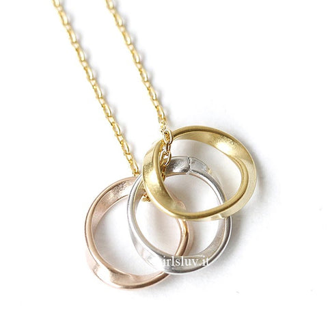 Three Circle Necklace, 2 Colors