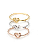 tiny HEART knot ring, 3 colors - girlsluv.it  - 5