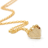 heart necklace, brushed - girlsluv.it  - 1
