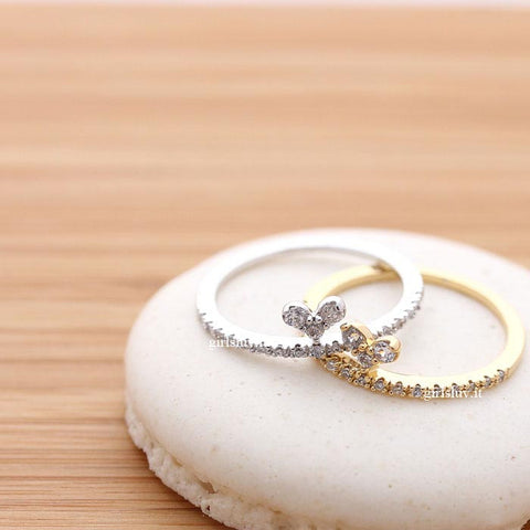 tiny heart ring, crystals - girlsluv.it